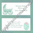 Green Buggy Baby Shower Candy Bar Wrapper