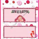 Cute as a Button Candy Bar Wrapper