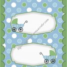 Baby Buggy Green Border Candy Bar Wrapper