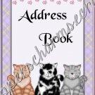"Address Book 4"" X 6"" Size ~  Kitty Cat Theme"