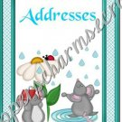 "Address Book 5"" X 7"" Size ~  Mouse In The Rain"