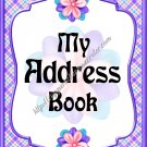 "Address Book 4"" X 6"" Size ~  My Purple Address Book ~ Canadian"