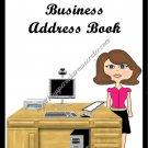 "Address Book 5"" X 7"" Size ~  Business  Address Book ~ Woman"