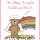 "Address Book 4"" X 6"" Size ~  Angel Bear Address Book"