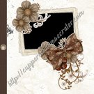 "Brag Book 5"" X 7"" Size ~ Prom Night Brown Brag Book"