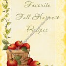 "Recipe Book 5"" X 7"" Size ~ Fall Apples"