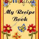 """Recipe Book 5"""" X 7"""" Size ~ Flower Garden"""