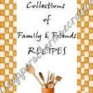"""Recipe Book 5"""" X 7"""" Size ~ My Creations"""