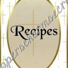 "Recipe Book 5"" X 7"" Size ~ My Cross"