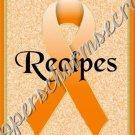"Recipe Book 5"" X 7"" Size ~ Orange Awareness Book"