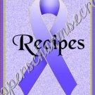 "Recipe Book 5"" X 7"" Size ~ Periwinkle Awareness Book"