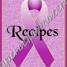 """Recipe Book 5"""" X 7"""" Size ~ Magenta Awareness Book"""