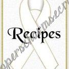 "Recipe Book 5"" X 7"" Size ~ White Awareness Book"