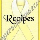 """Recipe Book 5"""" X 7"""" Size ~ Yellow Awareness Book"""