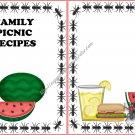 """Recipe Book 5"""" X 7"""" Size ~ Ant Picnic"""