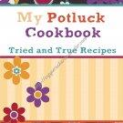 """Recipe Book 5"""" X 7"""" Size ~ Potluck Recipes"""