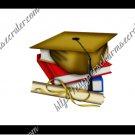 School Days ~ Graduation ~ MINI Candy Bar Wrapper ~ Dark Gold Mortar Board