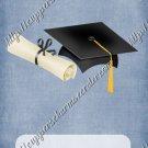 School Days ~ Graduation ~  MINI Candy Bar Wrapper ~ Solid Color Denim Blue
