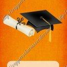 School Days ~ Graduation ~ MINI Candy Bar Wrapper ~ Solid Orange