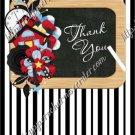 School Days ~ Teacher Thank You Floral ~ MINI Candy Bar Wrapper ~ Stripes Black