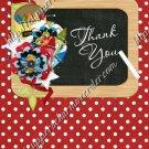 School Days ~ Teacher Thank You  ~  MINI Candy Bar Wrapper ~ Polka Dot Red