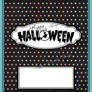 Halloween White Dots Standard Size Candy Bar Wrapper