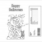 Color Me Stacked Pumpkins Halloween Standard Size Candy Bar Wrapper