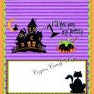 My Pretty Halloween  Standard Size Candy Bar Wrapper