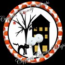 Pumpkin House Halloween Cupcake Picks & Toppers