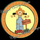 Scarecrow Halloween Cupcake Picks & Toppers