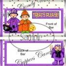 Treats Please Halloween Standard Size Candy Bar Wrapper