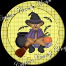 Bear Witch Halloween Cupcake Picks & Toppers