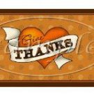 Give Thanks Thanksgiving Pint Glass Jar Set