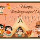 Indian Thanksgiving Pint Glass Jar Set