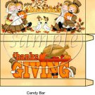 Let's Give Thanks Thanksgiving Candy Bar Box