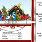 A Child is Born Christmas Standard Size Candy Bar Wrapper