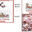 Candy Cane Seeds Christmas  Bag Topper