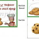 I'm Tired, Bake Own Darn Cookies Christmas Bag Topper