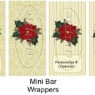 Beige Damask Christmas ~ MINI Candy Bar Wrapper