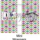 Bingo Card ~  MINI Candy Bar Wrapper