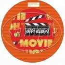 Happy Holidays  Movie Night Cupcake Food Picks & Toppers