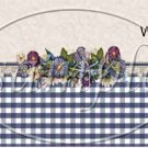 Navy Floral Gingham ~  MINI Candy Bar Wrapper