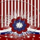 Red, White & Blue Patriotic Floral ~ MINI Candy Bar Wrapper