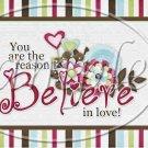 Believe in Love ~ Valentine's Day Pint Glass Jar Set