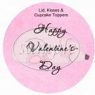Polar Bear & Penguin  ~ Valentine's Day Cupcake Picks & Toppers
