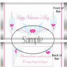 Pink Dove  ~ Valentine's Day Standard Size Candy Bar Wrapper