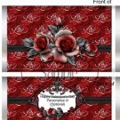 Red Love Rose ~ Valentine's Day Standard Size Candy Bar Wrapper