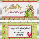 Toadally In Love~ Valentine's Day Standard Size Candy Bar Wrapper
