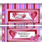 Triple Hearts ~ Valentine's Day Standard Size Candy Bar Wrapper