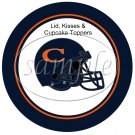 Chicago Bear (Faux) Cupcake Picks & Toppers